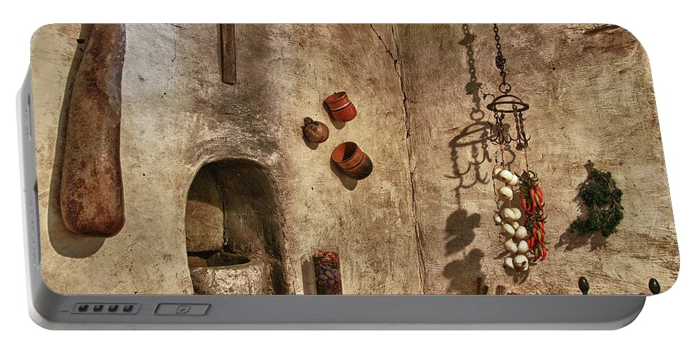 Carmel California Portable Battery Charger featuring the photograph Carmel Mission 2 by Ron White