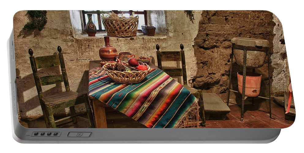 Carmel California Mission Portable Battery Charger featuring the photograph Carmel Mission 7 by Ron White