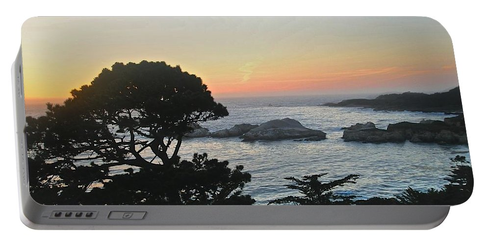 California Sunset Portable Battery Charger featuring the photograph Carmel's Scenic Beauty by Kristina Deane