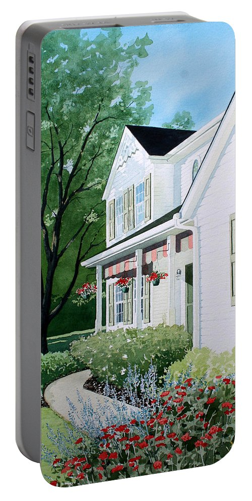 House Portable Battery Charger featuring the painting Carols Place by Jim Gerkin