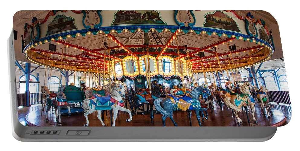 Carousel Ride Portable Battery Charger featuring the photograph Carousel Ride by Jerry Cowart