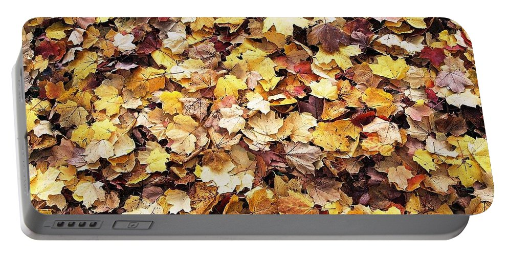 Leafs Portable Battery Charger featuring the photograph Carpet Of Leafs by Daniel Thompson