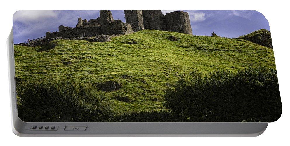 Carreg Cennan Portable Battery Charger featuring the photograph Carreg Cennan Castle by Fran Gallogly