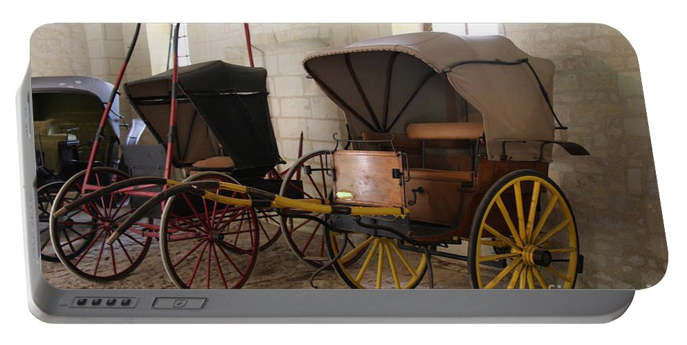 Carriage Portable Battery Charger featuring the photograph Carriage - Chateau Usse by Christiane Schulze Art And Photography