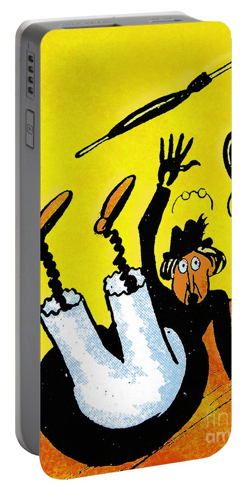 Artist Portable Battery Charger featuring the painting Cartoon 07 by Svetlana Sewell
