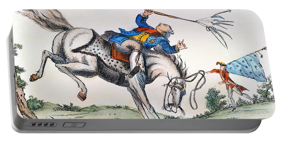 1779 Portable Battery Charger featuring the photograph Cartoon: Outcome, 1779 by Granger