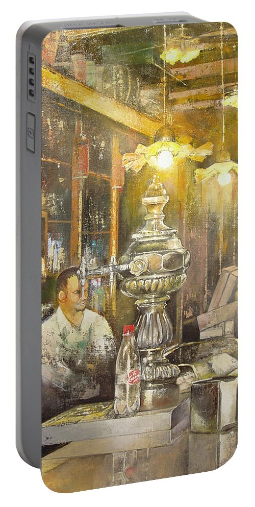 Casa Del Indiano Portable Battery Charger featuring the painting Casa del indiano by Tomas Castano
