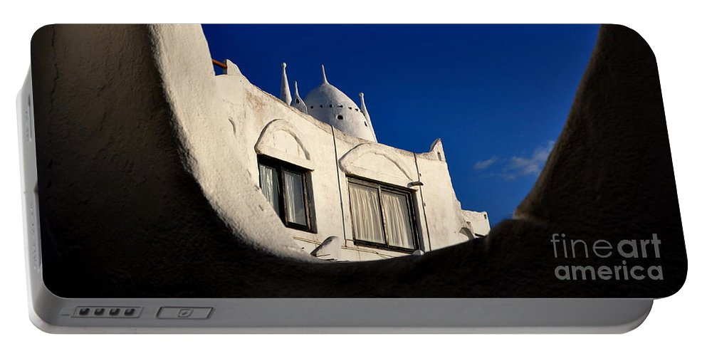 Architecture Portable Battery Charger featuring the photograph Casa Pueblo by Valerie Rosen