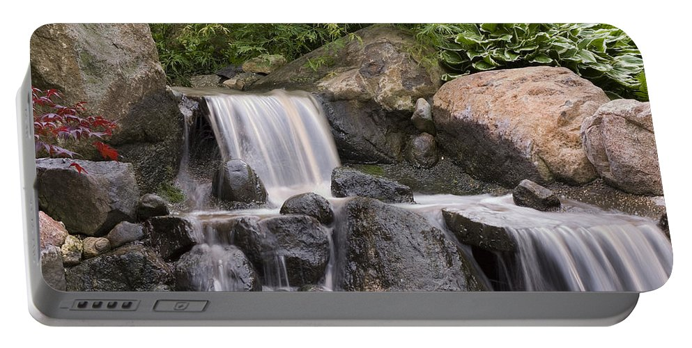 3scape Portable Battery Charger featuring the photograph Cascade Waterfall by Adam Romanowicz