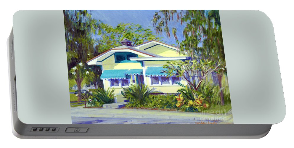Cason Cottage Portable Battery Charger featuring the painting Cason Cottage by Candace Lovely