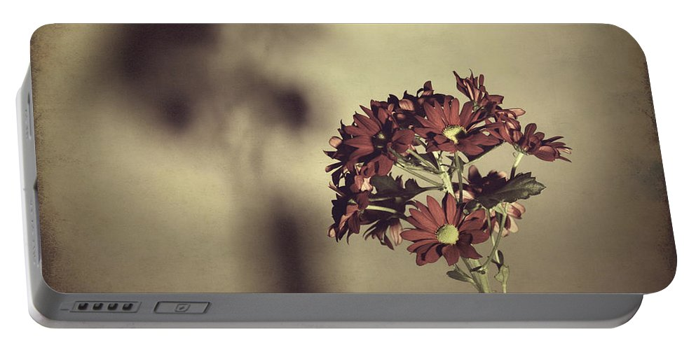Flower Portable Battery Charger featuring the photograph Cast A Shadow by Christopher Rees