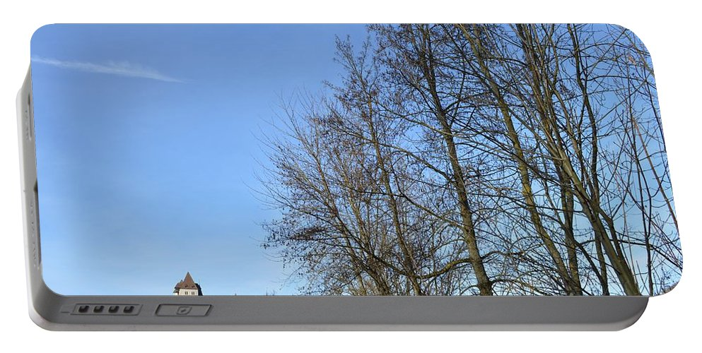 Landscape And Building Portable Battery Charger featuring the photograph Castle And Trees by Felicia Tica
