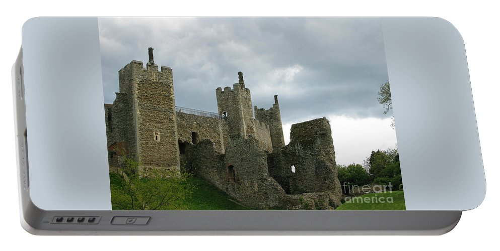 Castle Portable Battery Charger featuring the photograph Castle Curtain Wall by Ann Horn