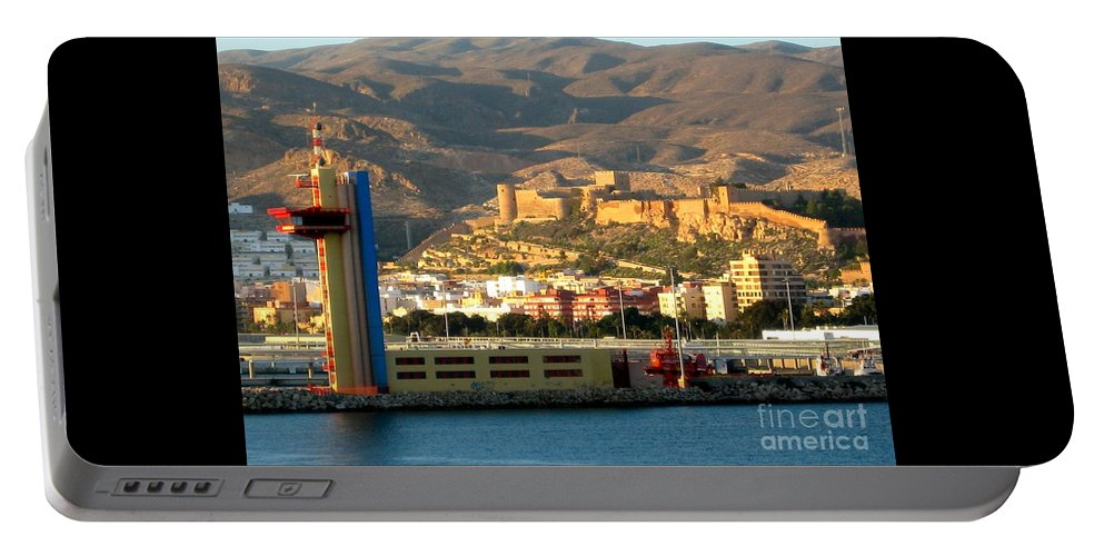 Almeria Portable Battery Charger featuring the photograph Castle In Almeria Spain by Phyllis Kaltenbach