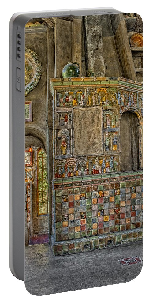 Byzantine Portable Battery Charger featuring the photograph Castle Salon by Susan Candelario
