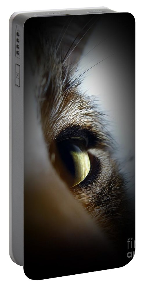 Michelle Meenawong Portable Battery Charger featuring the photograph Cat Eye by Michelle Meenawong