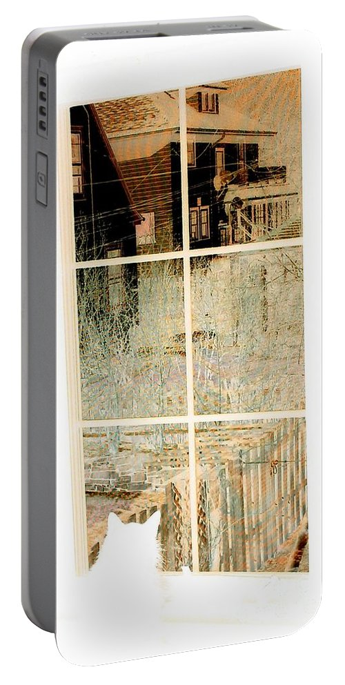 Maine Coon Portable Battery Charger featuring the photograph Cat Perspective by Jacqueline McReynolds