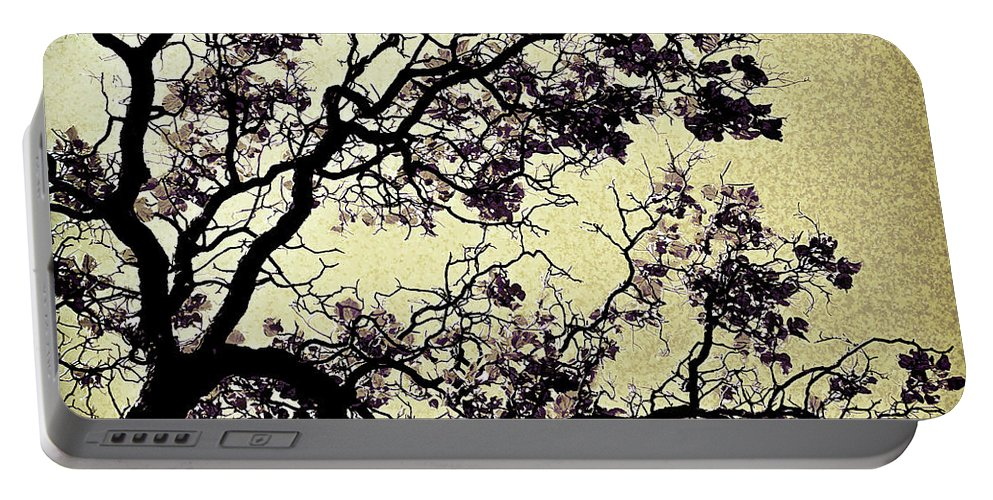 Catalpa Tree Portable Battery Charger featuring the photograph Catalpa Tree Gold by Diana Powell
