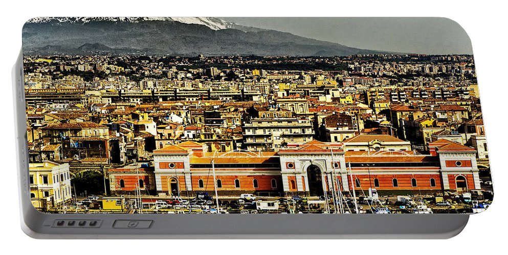 Catania Sicily Portable Battery Charger featuring the photograph Catania Sicily by Jon Berghoff