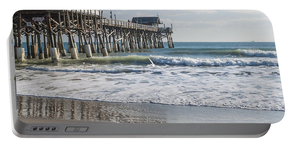 Catch Of The Day Cocoa Beach Pier Florida Seascape Portable Battery Charger featuring the photograph Catch Of The Day by Brian Harig