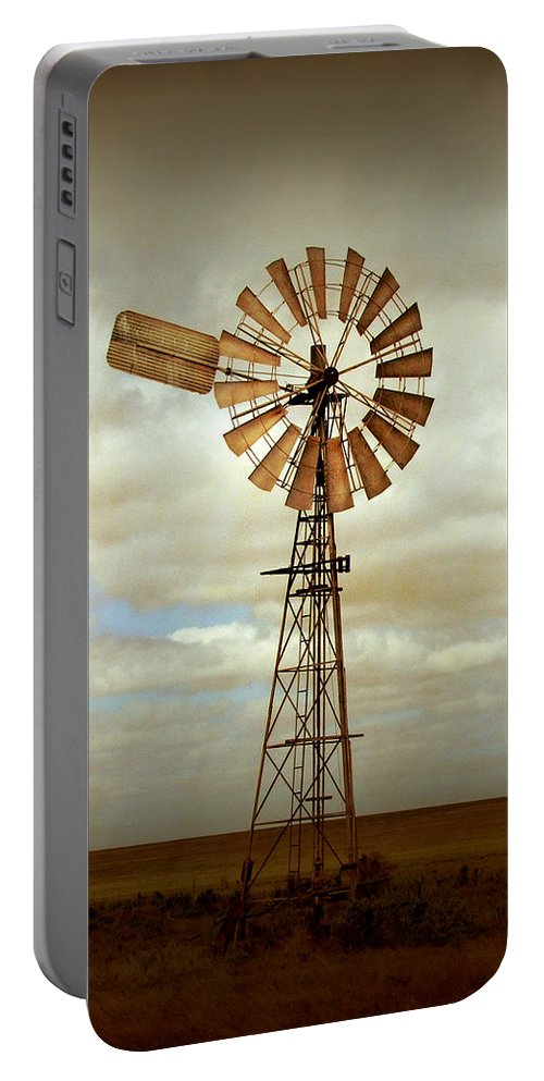 Windmill Portable Battery Charger featuring the photograph Catch the Wind by Holly Kempe