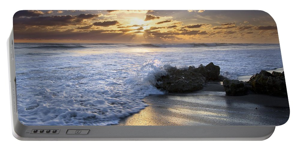 Clouds Portable Battery Charger featuring the photograph Catching The Light by Debra and Dave Vanderlaan