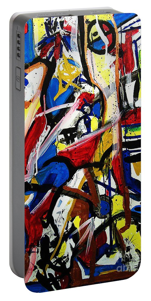 Painting Portable Battery Charger featuring the painting Catharsis by Jeff Barrett