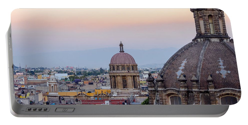 Mexico Portable Battery Charger featuring the photograph Cathedral Dome And City by Jess Kraft