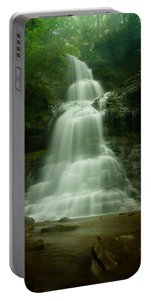 Waterfall Portable Battery Charger featuring the photograph Cathedral Falls by Shane Holsclaw