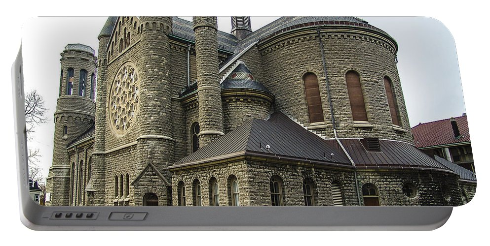 Religion Portable Battery Charger featuring the photograph Cathedral In Buffalo by Eric Swan