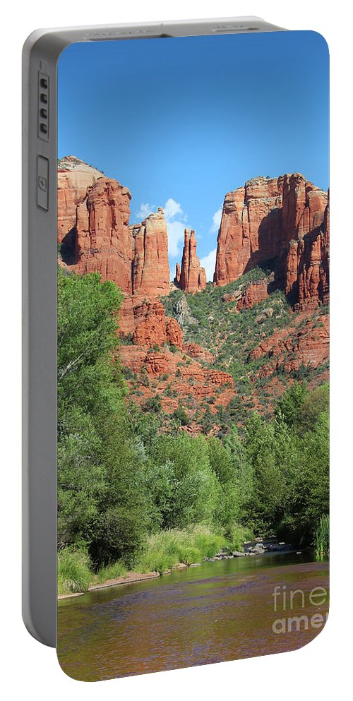Cathedral Portable Battery Charger featuring the photograph Cathedral Rock Sedona by Jemmy Archer
