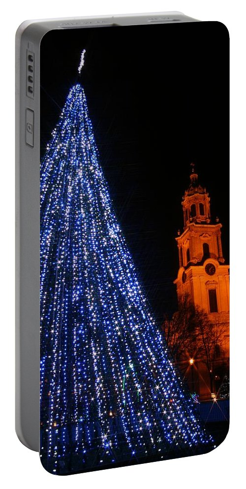 Cathedral Square Portable Battery Charger featuring the photograph Cathedral Square by Susan McMenamin
