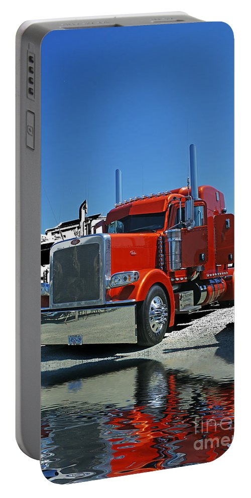 Trucks Portable Battery Charger featuring the photograph Catr3080-13 by Randy Harris