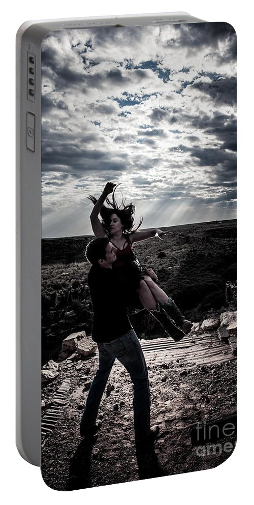 Country Swing Portable Battery Charger featuring the photograph Caught In The Air by Scott Sawyer