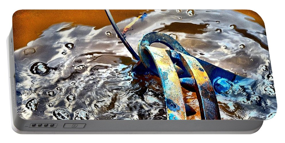 Abstract Portable Battery Charger featuring the photograph Cauldren by Lauren Leigh Hunter Fine Art Photography
