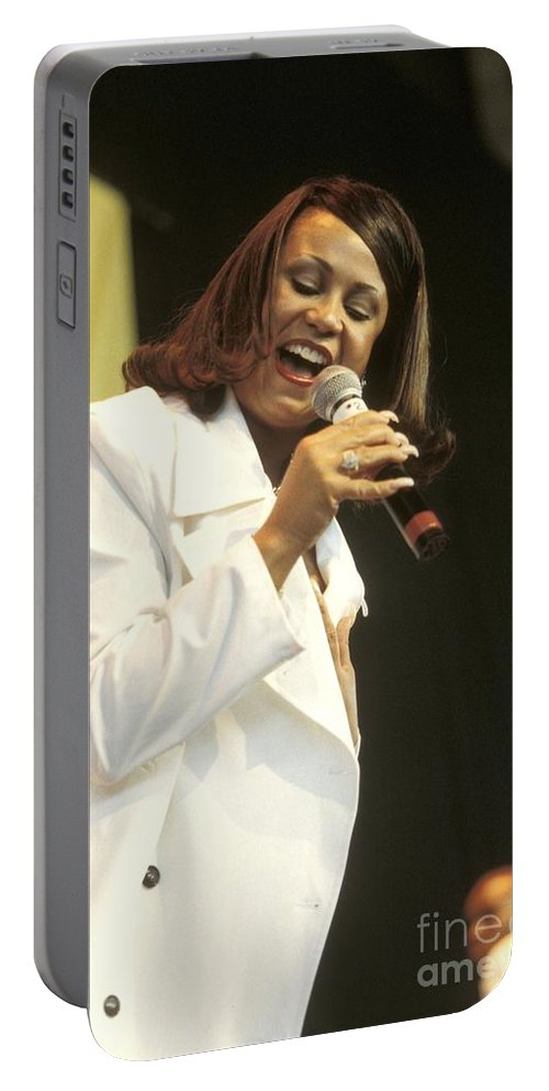 Dance Music Singer Portable Battery Charger featuring the photograph Cece Peniston by Concert Photos