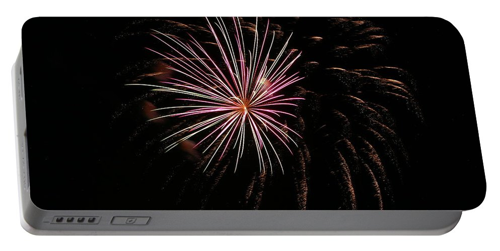 Fireworks Portable Battery Charger featuring the photograph Celebration Xxxvi by Pablo Rosales