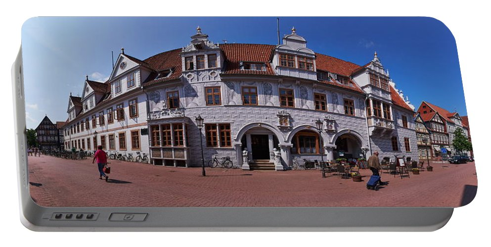 Alankomaat Portable Battery Charger featuring the photograph Celle Rathaus by Jouko Lehto