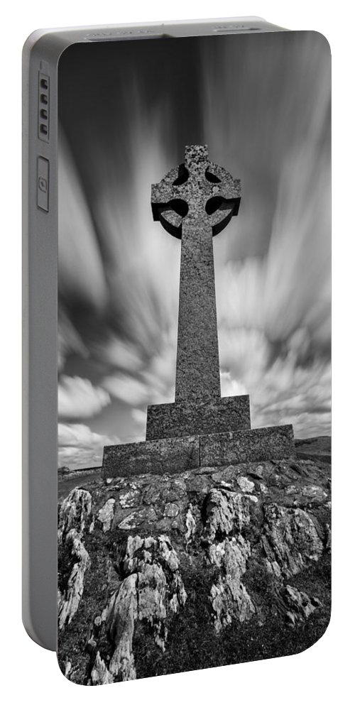 Celtic Cross Portable Battery Charger featuring the photograph Celtic Cross by Dave Bowman