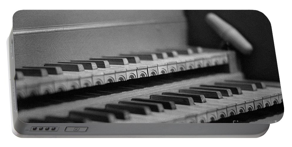 Harpsichord Portable Battery Charger featuring the photograph Cembalo Keyboards by Riccardo Mottola
