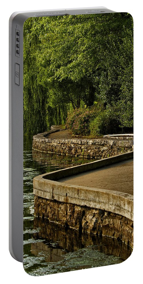 Centennial Park Portable Battery Charger featuring the photograph Centennial Park by Diana Powell