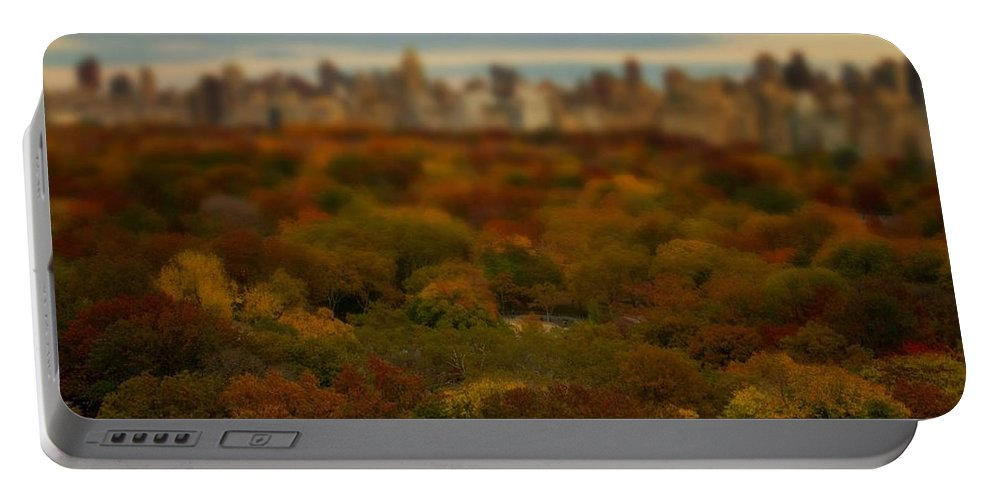 Central Park Portable Battery Charger featuring the photograph Central Park In Autumn by Kathleen Odenthal