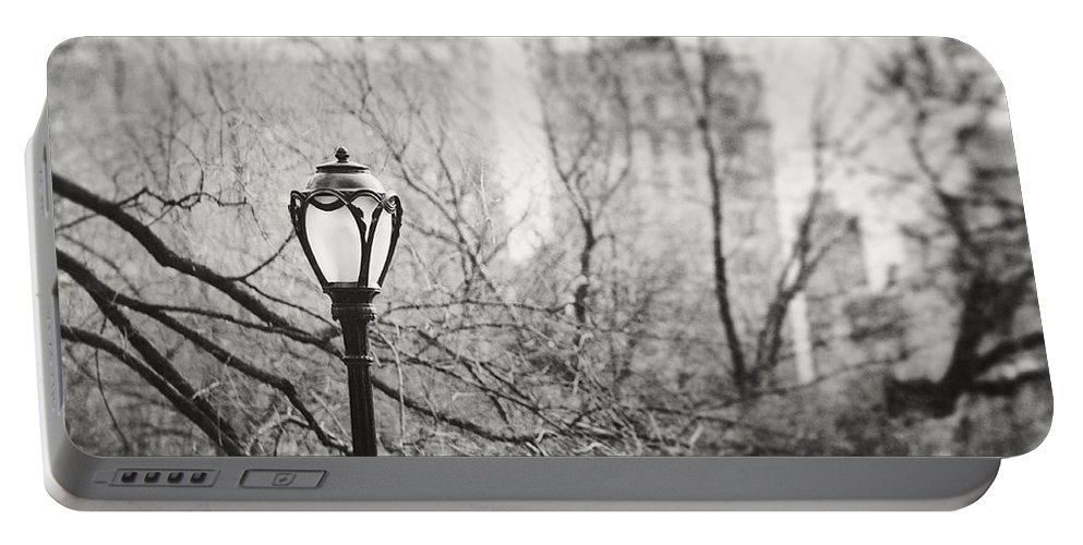 Nyc Portable Battery Charger featuring the photograph Central Park Lamppost In New York City by Lisa Russo