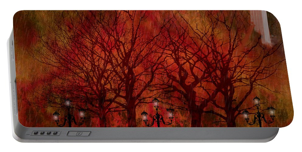 Central Park Portable Battery Charger featuring the painting Central Park Ny - Featured Artwork by Ericamaxine Price