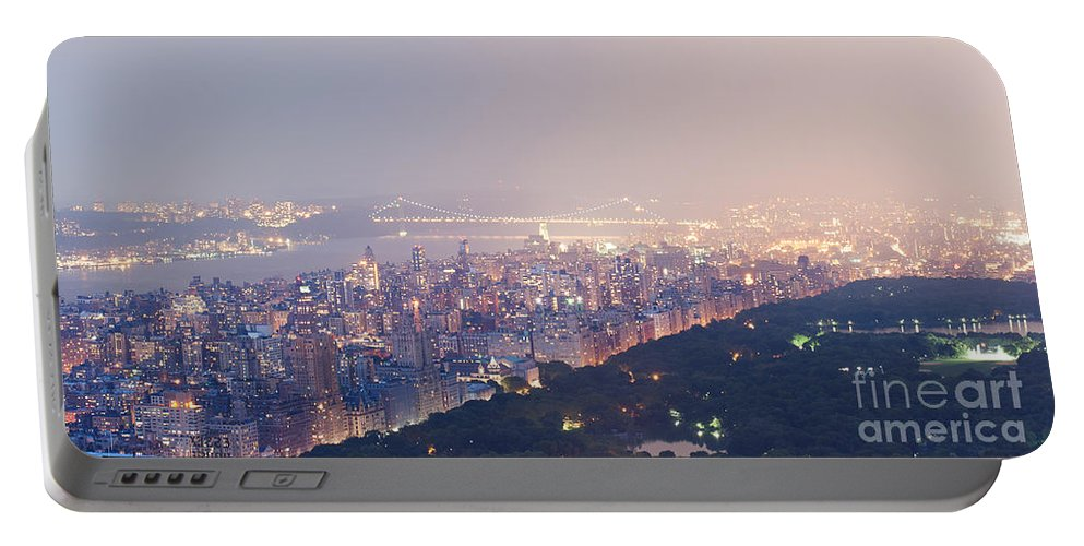 Nyc Portable Battery Charger featuring the photograph Central Park West Pano by Ray Warren