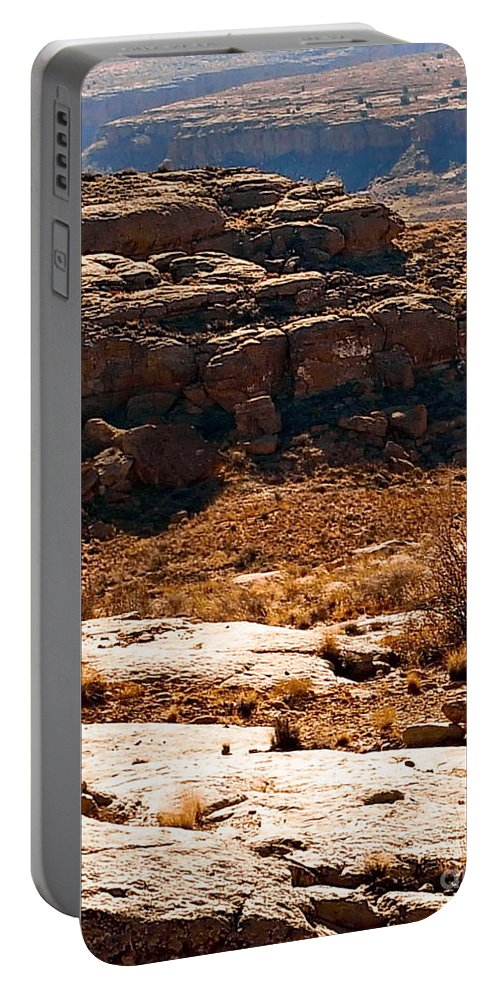 Color Photo Portable Battery Charger featuring the digital art Chaco Canyon by Tim Richards