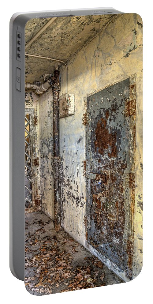 Doors Portable Battery Charger featuring the photograph Chain Gang-2 by Charles Hite