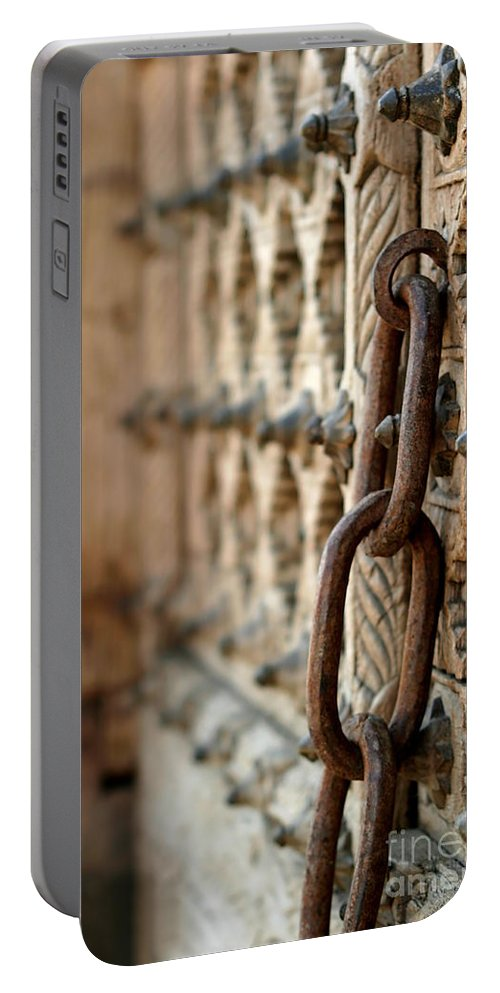 Antique Portable Battery Charger featuring the photograph Chain by Henrik Lehnerer