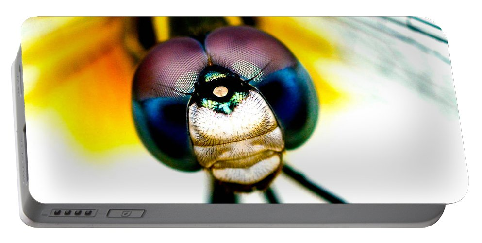 Dragonfly Portable Battery Charger featuring the photograph Chakra Warrior by Lisa Renee Ludlum