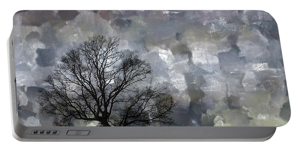Tree Portable Battery Charger featuring the mixed media Change Is Gonna Come by Trish Tritz